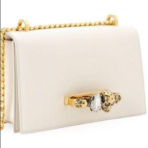 Alexander McQueen Jewelled Satchel Bag - Golden